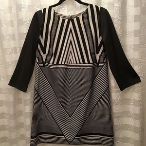 Worthington Mixed Material Back Zip Dress, Size 10